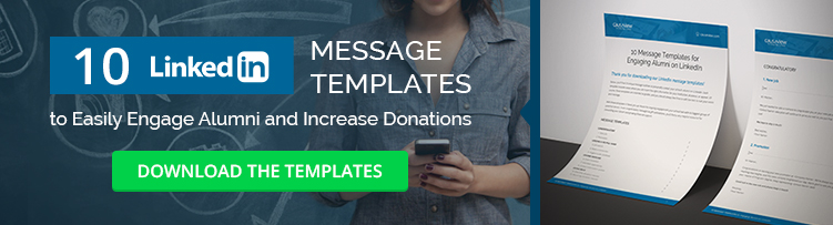Download 10 free LinkedIn message templates for easy alumni engagement